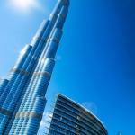 Burj Khalifa. View from Downtown Dubai